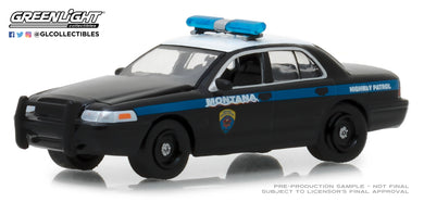 GreenLight 1/64 Hot Pursuit Series 29 - 2001 Ford Crown Victoria Police Interceptor - Montana Highway Patrol 42860-D