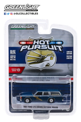 GreenLight 1:64 Hot Pursuit Series 32 - 1987 Ford LTD Crown Victoria Wagon - Louisiana State Police Crime Scene Investigation Crime Lab 42890-B