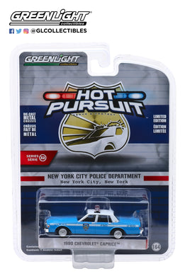GreenLight 1:64 Hot Pursuit Series 32 - 1990 Chevrolet Caprice - New York City Police Dept (NYPD) 42890-C