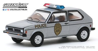 GreenLight 1:64 Hot Pursuit Series 34 - 1980 Volkswagen Rabbit - Greensboro, North Carolina Patrol 42910-D