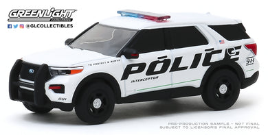 GreenLight 1:64 Hot Pursuit Series 34 - 2020 Ford Police Interceptor Utility Show Vehicle 42910-F