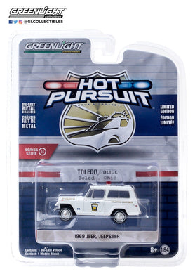 GreenLight 1:64 Hot Pursuit Series 35 - 1969 Kaiser Jeep Jeepster - City of Toledo, Ohio Police 42920-A