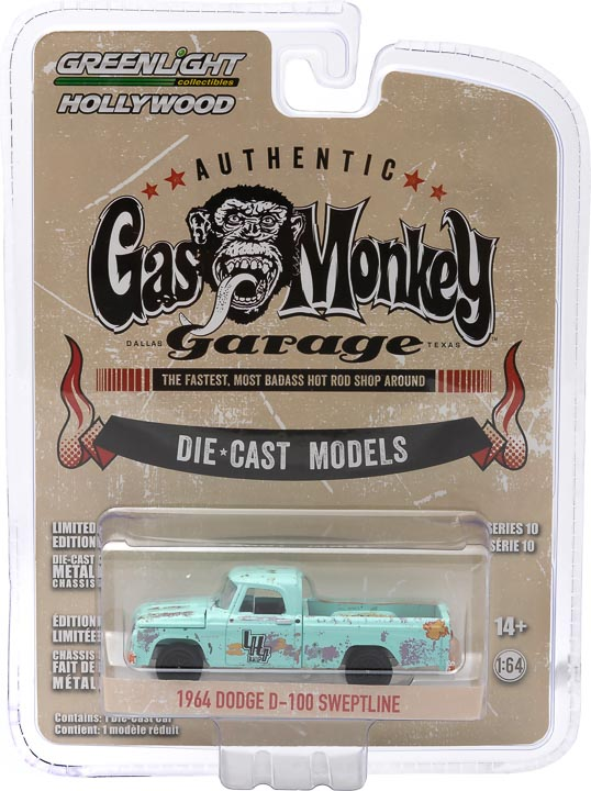 GreenLight 1/64 Gas Monkey Garage (2012-Current TV Series) - 1964 Dodge D-100 Sweptline 44700-E