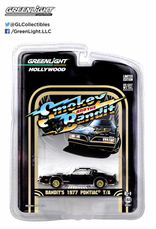 GreenLight 1/64 Hollywood Greatest Hits - Smokey and the Bandit (1977) - 1977 Pontiac Trans Am 44710-A