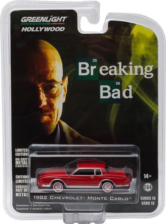GreenLight 1/64 Hollywood Series 13 - Breaking Bad (2008-13 TV Series) - Jesse's 1982 Chevrolet Monte Carlo Diecast Model Car 44730-D