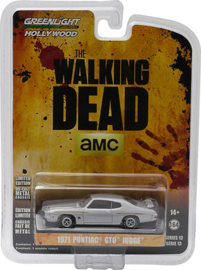 GreenLight 1/64 Hollywood - The Walking Dead (2010-Current TV Series) - 1971 Pontiac GTO (Ep. 1.01) 44730-E
