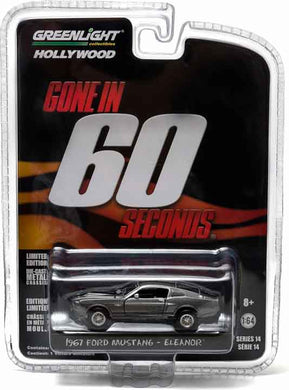 GreenLight 1/64 Gone in Sixty Seconds (2000) - 1967 Custom Ford Mustang Eleanor 44742