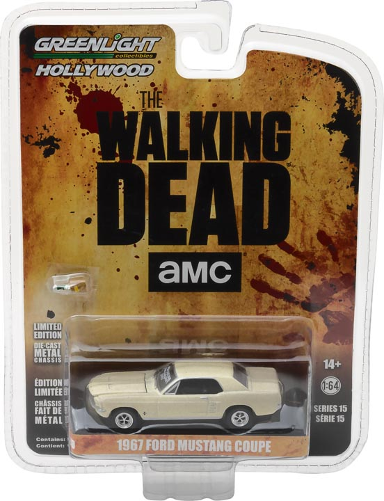 GreenLight 1/64 Hollywood - The Walking Dead (2010-Current TV Series) - 1967 Ford Mustang Coupe Sophia Message Car with Accessories 44750-E