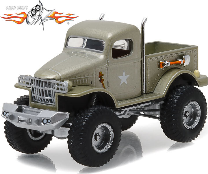 GreenLight 1/64 Hollywood - Stacey David s Gearz (2007-Current TV Series) - 1941 Military 1/2 Ton 4x4 Pickup Truck Sgt. Rock 44750-D