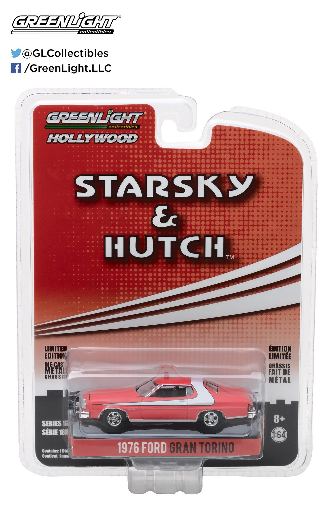 GreenLight 1/64 Hollywood - Starsky and Hutch (TV Series 1975-79) - 1976 Ford Gran Torino 44780-A
