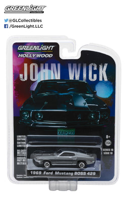 GreenLight 1/64 Hollywood Series 18 - John Wick (2014) - 1969 Ford Mustang BOSS 429 44780-E