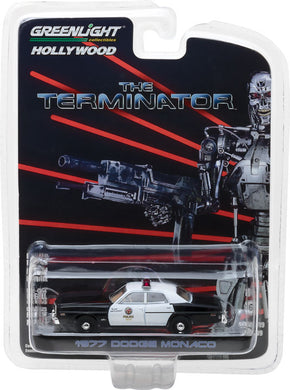 GreenLight 1/64 Hollywood Series 19 - The Terminator (1984) - 1977 Dodge Monaco Metropolitan Police 44790-C