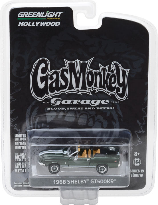 GreenLight 1/64 Hollywood Series 19 - Gas Monkey Garage (2012-Current TV Series) - 1968 Shelby GT500KR Convertible 44790-D