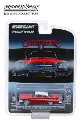 GreenLight 1/64 Christine (1983) - 1958 Plymouth Fury (Evil Version with Blacked Out Windows) 44840-B