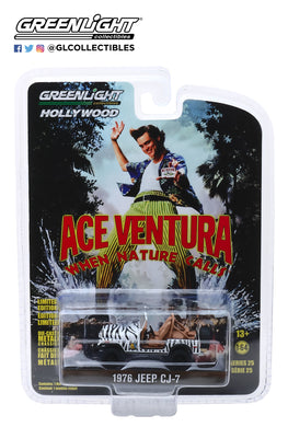 GreenLight 1:64 Hollywood Series 25 - Ace Ventura: When Nature Calls (1995) - 1976 Jeep CJ-7 44850-A