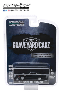 GreenLight 1:64 Hollywood Series 27 - Graveyard Carz (2012-Current TV Series) - 1971 Plymouth Cuda 340 (Season 2 - Phantasm Cuda) 44870-F