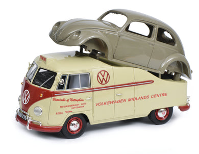 Schuco 1:18 Volkswagen T1a Midlands Centre with beetle chassis Limited 500 450016300