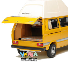 Schuco 1/18 Volkswagen VW T3 Joker camper with high roof yellow Diecast Model Car 450038500