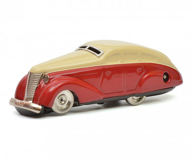 Schuco Turning Car (Wendeauto) 1010 rot-beige sheet clockwork car Limited 1000 450112300