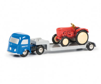 Schuco 1/90 Piccolo Mercedes-Benz with low loader and Porsche Tractor 450128900