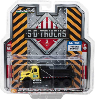 GreenLight 1/64 S.D. Trucks Series 2 - 2017 International WorkStar Dump Truck - New York City DOT 45020-A