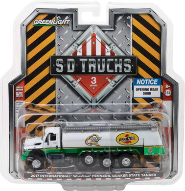 GreenLight 1/64 S.D. Trucks Series 3 - 2017 International WorkStar Tanker Truck - Pennzoil Quaker State 45030-C