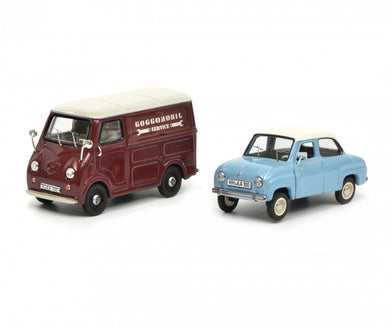 Schuco 1/43 Set Goggomobil Goggo Limousine and Goggo box van 450347500