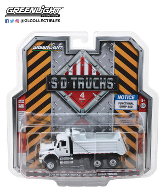 GreenLight 1/64 S.D. Trucks Series 4 - 2018 International WorkStar Construction Dump Truck - White 45040-A