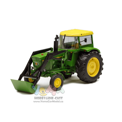 Schuco 1/32 John Deere 3120 tractor with hood and front loaders green Tractor 450767800