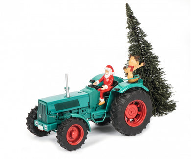 Schuco 1/32 Hanomag Robust 900 Tractor with Christmas Tree 450780200