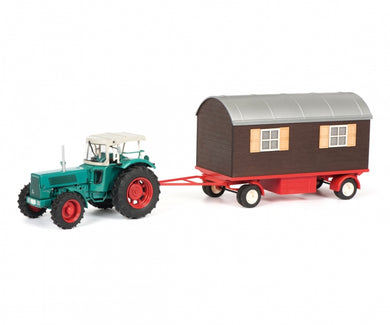 Schuco 1/32 Hanomag Robust with trailer 450780300