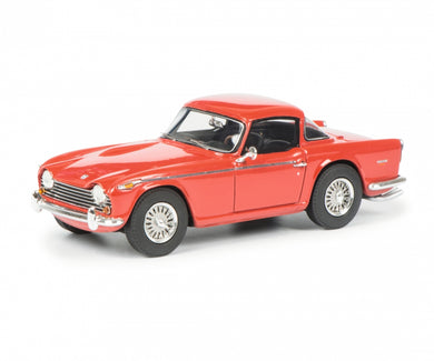 Schuco 1/43 Triumph TR5 with closed Surrey Top red black 450887300