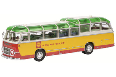 Schuco 1/43 Neoplan FH 11 Shell racing service yellow / red 450896500