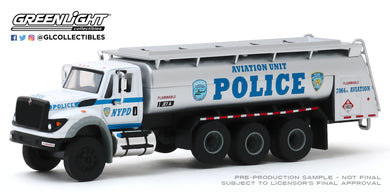 GreenLight 1:64 S.D. Trucks Series 9 - 2018 International WorkStar Tanker Truck - New York City Police Dept (NYPD) Aviation Unit 45090-A
