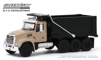 GreenLight 1:64 S.D. Trucks Series 9 - 2019 Mack Granite Dump Truck - Bronze and Black 45090-C