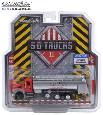 GreenLight 1:64 S.D. Trucks Series 11 - 2018 International WorkStar Tanker Truck - FDNY (The Official Fire Department City of New York) Ultra Low Sulphur Diesel 45110-A