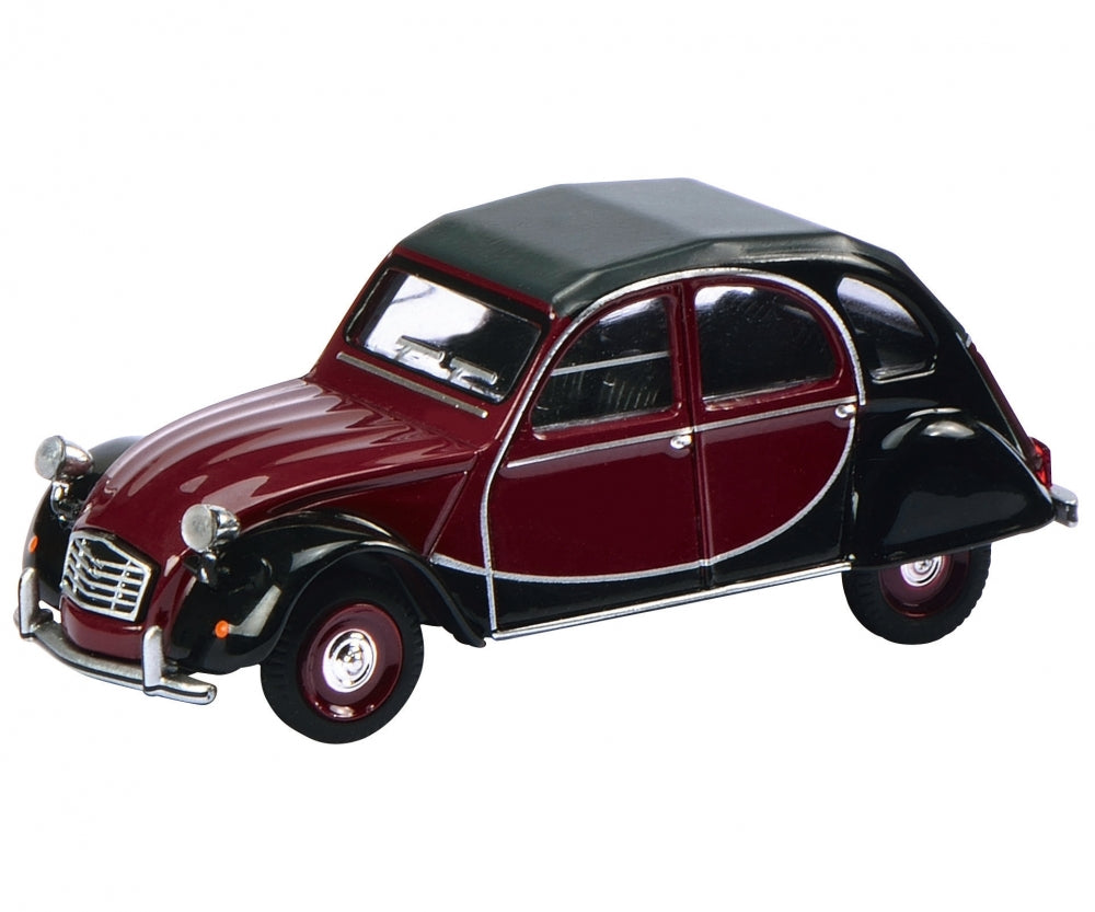 Schuco 1/64 Citroen 2 CV Charleston red/black 452012100