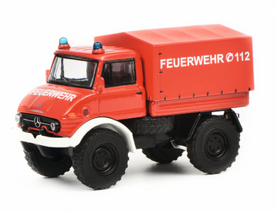 Schuco 1/64 Mercedes-Benz Unimog U406 fire Department 452017300