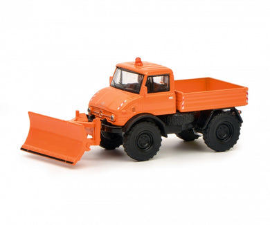 Schuco 1:64 Mercedes-Benz Unimog U406 Winter service Orange 452020200