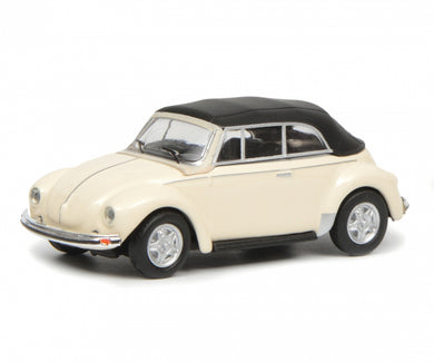 Schuco 1/87 Volkswagen Beetle Cabrio with roof white 452633500