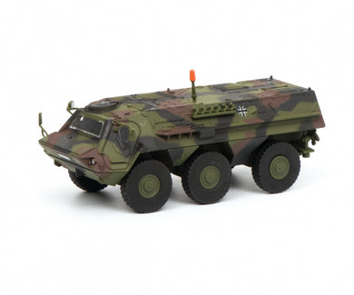 Schuco 1/87 Fuchs infantry transport vehicle Bundeswehr camouflaged 452635800