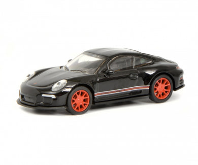 Schuco 1/87 Porsche 911 R (991) black red 452637400