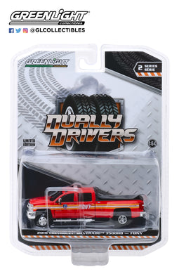 GreenLight 1:64 Dually Drivers Series 2 - 2018 Chevrolet Silverado 3500 Dually FDNY (The Official Fire Department City of New York) 46020-A
