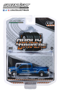 GreenLight 1:64 Dually Drivers Series 2 - 2019 Ford F-350 Dually - Bigfoot #1 The Original Monster Truck 46020-E