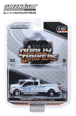 GreenLight 1:64 Dually Drivers Series 2 - 2019 Ford F-350 Dually - New York City Police Dept (NYPD) 46020-F