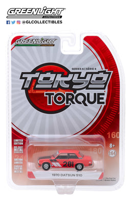GreenLight 1/64 Tokyo Torque Series 6 - 1970 Datsun 510 #281 Turn Right Racing 47040-A