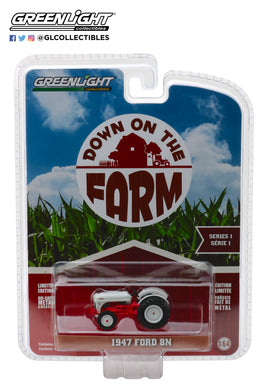 GreenLight 1/64 Down on the Farm Series 1 - 1947 Ford 8N Tractor - White and Red 48010-A