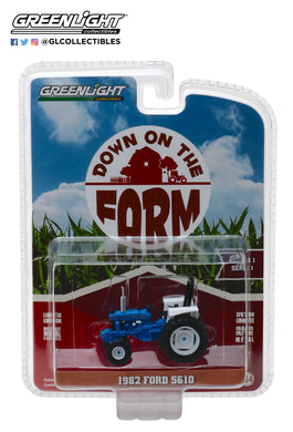 GreenLight 1/64 Down on the Farm Series 1 - 1982 Ford 5610 Tractor - Blue and Black 48010-C