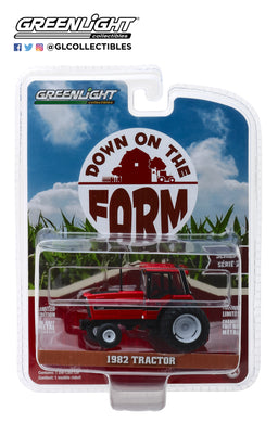 GreenLight 1/64 Down on the Farm Series 2 - 1982 Tractor - Red and Black with Dual Rear Wheels 48020-E