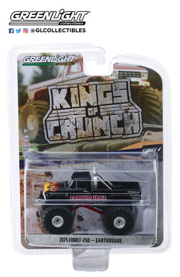 GreenLight 1/64 Kings of Crunch Series 4 - Earthquake - 1975 Ford F-250 Monster Truck 49040-B
